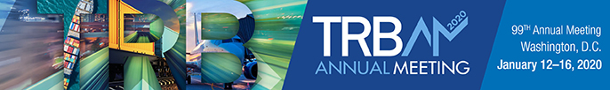 TRB Annual Meeting - January 12-16, 2020