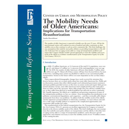 The Mobility Needs of Older Americans